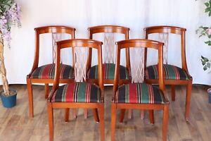 Nr.1559d Ambitat Moveis  5 Stühle Wildkirsche Vollholz