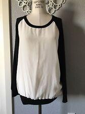 Joie Raglan Mixed Media Sweater Size S Small
