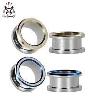 Smiple Style Hollow Piercing Ear Gauges and Ear Tunnels Body Ear Plugs 2pcs Gift