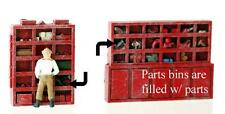 Parts Bins, Industry or Workshop Detailing...Loaded, comes Painted in HO scale