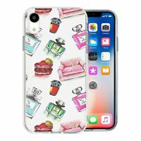 For Apple iPhone XR Silicone Case Perfume Chic Pattern - S1241
