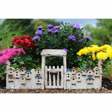 Miniature Dollhouse FAIRY GARDEN - Birdhouse Gate - Accessories