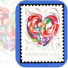 2016  QUILLED PAPER HEART  Single USPS Forever® Individual MINT Stamp Cat # 5036