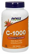 Vitamin C1000 + ROSE HIPS, 1000mg x 250 Tablets Antioxidant Protection NOW Foods
