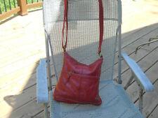 THE SAK Burgundy Leather Shoulder Bag/Cross Body/Messenger