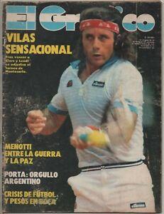 GUILLERMO VILAS ON COVER EL GRAFICO MAGAZINE TENNIS ARGENTINA 1982