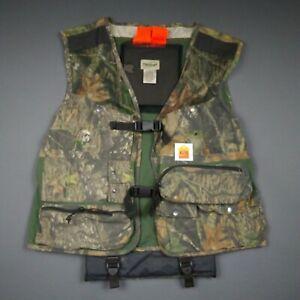 XL Hunting Vest Men's Fieldstaff Mossy Oak Full Strut Back Pad Caution Flag