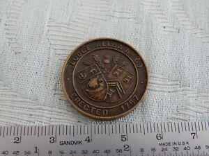 """Masonic Lodge Alloa No 69 """"Penny Token"""" very fine & unusual & from old estate"""