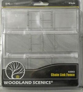 Woodland Scenics O Scale A3003 Chain Link Fence 8 Pc Kit