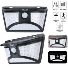 1-4Pack 68 Led Solar Power Wall Light Motion Sensor Security Outdoor Garden Lamp