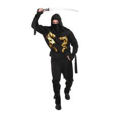 Amscan Black Dragon Ninja Dress Up Size XL Fancy Dress