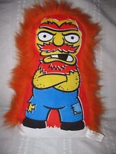 """The Simpsons GROUNDSKEEPER WILLIE Plush Pillow Doll Universal Studios 14"""" Willy"""