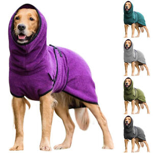 Dog Puppy Hooded Jacket Coat Pet Fleece Vest Winter Warm Clothes Plus Size New