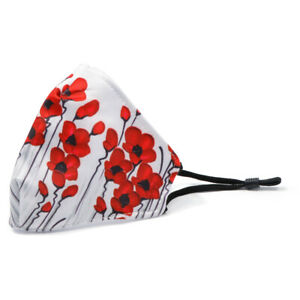Face Mask - Mpressions Poppies Print (Kids Size)