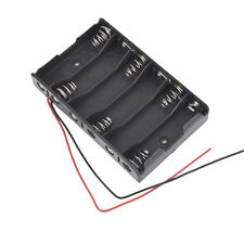 6x1.5V AA 2A CELL Battery Batteries Holder Storage Box 9V Case With Lead Wire LW