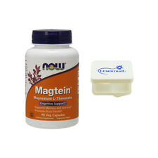 NOW FOODS® Magtein Magnesium L-Threonate (90 Capsules) + 1 Lumintrail Pill Case