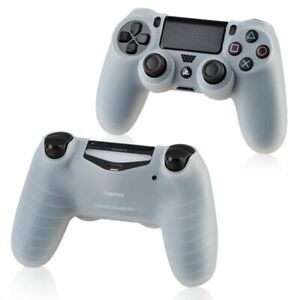 1x White Silicone Rubber Soft Case Gel Skin Cover for SONY PS4 Controller