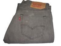 Mens LEVI'S STRAUSS & CO. 501 Grey Denim Jeans W34 L34