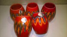 lotto di  5 vasi  delle ceramiche sanmarinesi F.A.C.S. dipinti a mano SAN MARINO