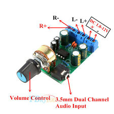 Portable 3.5mm AUX Audio Amp Board DC1.8-12V Amplifier Model 2.0 Channel Stereo