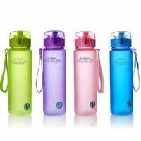 Portable Sports Water Bottles BPA Free Plastic Leakproof Outdoor Drinking Flasks
