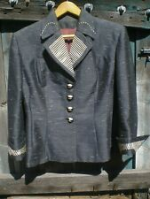 1940 Lilli Ann Blue Jacket with Killer Buttons - M