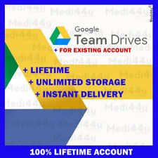 Google Team Drives unlimited storage (For Your Existing Google drive Account)