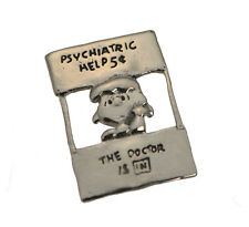 Lucy Charlie Brown charm Peanuts Snoopy Sterling Silver Psychiatric help Doctor