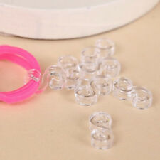 S Clips 2gm Approx 200 Quantity Clear DIY Plastic Loom Bands Bracelet Connectors