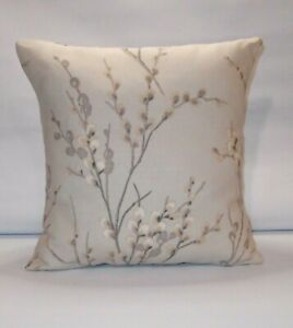 Handmade Cushion Cover Laura Ashley Pussy Willow Dove Grey Background Both Sides