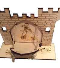 Fairy Door -  Fairy Tale Princess Castle with Opening Drawbridge Wooden
