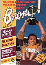 1990 SEPT-NOV BRONCOS MAGAZINE - RAY HERRING COVER