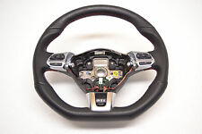 MK6 VW GTI Multi Function Steering Wheel Black Leather Flat Bottom Oem 2010-2013