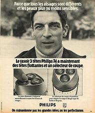PUBLICITE ADVERTISING 114  1974  PHILIPS  rasoir 4
