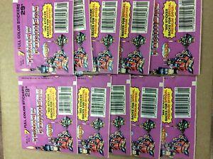 Vintage 1986 Transformers G1 10 x Diamond Pack 7 Stickers Brand New Lot Rare
