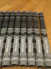 13x Golf Pride MCC Plus 4 Multicompound Golf Grips Gray Black Midsize set