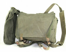 Canvas Retro Rucksack In Olive Green, grade 2, BOGOF