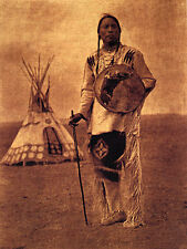 Indian Encampment 22x30 Curtis Native American Indian Art Print Photo