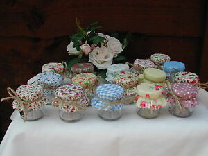 Set of 10 Mini Jam Jars Wedding Favours Vintage Style Jam Jar