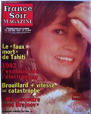 France Soir Magazine du 23/01/1982; Tahiti/ Chère Jeanne/ Calamity James/ Iglési