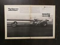 Vintage 1971 Ontario Motor Speedway Two Page Original Ad