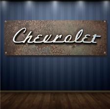 Chevy 1' X 3' Garage Banner, 13oz Vinyl - FREE SHIPPING Vintage Chevrolet
