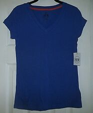 NEW ENERGIE NYC JUNIORS BLUE SHORT SLEEVE TOP SIZE MEDIUM