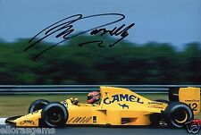 "F1 Formula One Ex Driver Martin Donnelly Hand Signed Lotus Photo 12x8"" AD"