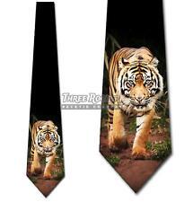 Tiger Ties Mens Jungle Animal Necktie