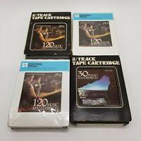 Lot Of 4 8 Track Cartridges - 120 Music M.P. Vol. 1-3, 30 Piano M.P. Vol. 4