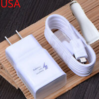 Original Fast Charging Charger USB Cable Car Charger Samsung Galaxy Note 5 S6 S7