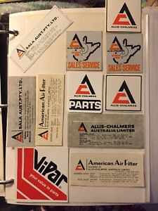 nice lot of allis chalmers equipment stickers