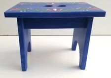 Wooden stool with handpainetd flower pattern kids stool , stepping stool ,stand
