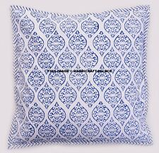 Indian Handmade Reversible Block Print Cushion Cover Ethnic Bed Decor Cushion